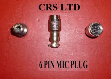 CB 6 PIN MALE MIC PLUG SELF CONNECT FOR CB MICS HGV LORRY 27 MHZ EQUIPMENT